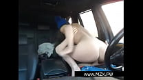 FRENCH COUPLE AMATEUR IN CAR