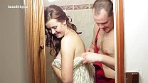 Crazy fucking with plumber before wedding pornhub video