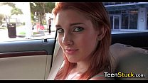 redhead needs a ride home and flirts