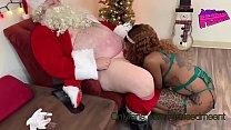 New Years Queen meets Santa