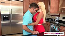 Glamorous russian milf and teen in a threeway video