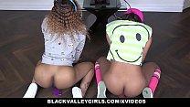 BlackValleyGirls - Black Gamer Girls Ride Hard Cock thumbnail
