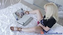 Blonde stepsis pov rides video