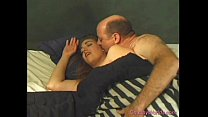 Chubby babe gets fucked in bed porn image