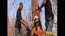 Awesome black lady gets banged outside
