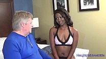 Skyler Nicole - Ebony Cutie Fucks Not  Her Stepdad Thumbnail