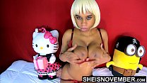 12897 Black Nipples Big Areolas Natural Titties On Skinny Young Babe Msnovember Squeezing Her Saggy Breasts Hard , Large Round Brown Tits Bouncing On Busty Chest Close Up With Smooth Skin On Cute Spinner 4k Sheisnovember preview
