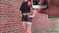 German Scout - Schlankes Tattoo Teeny Monika gefickt صورة