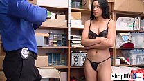 Big booty ebony teen busted and fucked by a LP officer