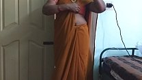 desi  indian horny tamil telugu kannada malayalam hindi cheating wife wearing saree vanitha showing big boobs and shaved pussy press hard boobs press nip rubbing pussy masturbation porn image