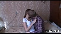 After the gentle oral-job filthy bitch receives a passionate sex