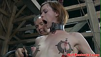 Bondage sub dominated by electro nippleplay Vorschaubild
