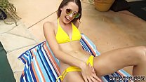 Family vacation and step mom friend' playmate's daughter scissoring