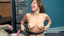 5733 Mature tart Brandi Minx is on her knees blowing a geek preview