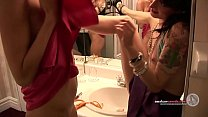 Skinny french licking lesbians go wild in Montr...