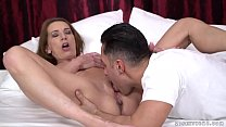 Lusty Grandma rides younger dick