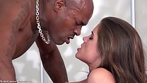 Black - Little Caprice get fucked first time from a  black big cock Thumbnail