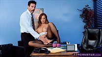 Office chick in stockings and heels gets fucked Thumbnail