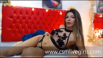 AmmelieLovee - My bed burns with so much excitement - Model latina