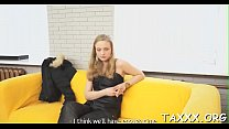 Showing sex skills at a casting