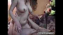 Busty amateur teen girlfriend sucks and fucks w...