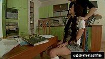 Pigtailed schoolgirl gets fucked