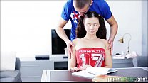 Too Much Studying Makes Pigtailed Teen Horny For Dick