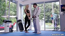 Emma Hix and her MMA trainer » paris kennedy free hot dog day thumbnail