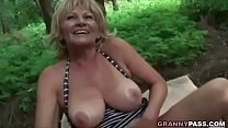 Busty Granny Gets Fucked In The Forest video