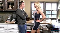 Stepmom MILF Briana Banks oral sex and kitchen ...