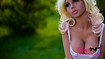 Petite teen blonde sex doll with big tits - 9Club.Top