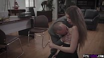 Sexy teen dauther Elena Koshka got double fucke...