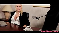 Bigtit eurobabe interracial assfucked on desk thumb
