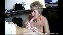 naughty shorthaired blonde milf with a dirty an...