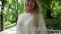Blonde Hottie Fucks Outdoors video starring Aisha - Mofos.com