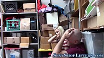 Amateur teen thief cummed