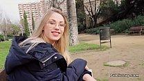 Blonde In Pantyhose Fucks In Bushes