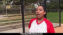 TheRealWorkout - Busty Latina Loves To Play with Balls