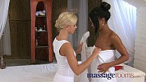 Massage Rooms Lola slides her oily fingers inside two horny teens صورة