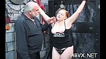 Appealing girl gets shaved muff slammed