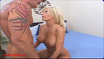 Swingerswatching.com blond milf huge tits gets fuck hard friend front of husband