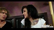 Tattooed goth babe 768
