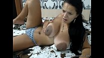8568 Busty latina with big areolas teasing on cam preview