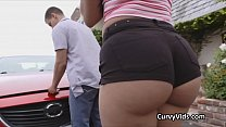 Oily booty fucked after car trouble emerges Thumbnail