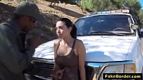 Stunning Latina babe fucked by border patrol agent Image