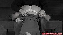 Sensory deprived sub fingered by maledom