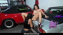 Sexy wild chick gets paid to fuck 4