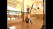 Flexible Sexy girl gymnast in mask