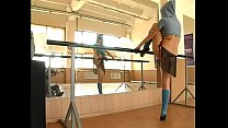 Flexible Sexy Girl Gymnast In Mask