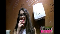 Nerdy Teen Sucked Me Off In A Public Restroom For Money - TeensCraveMoney.com